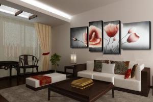 Картины для гостиной: как подчеркнуть стиль комнаты?