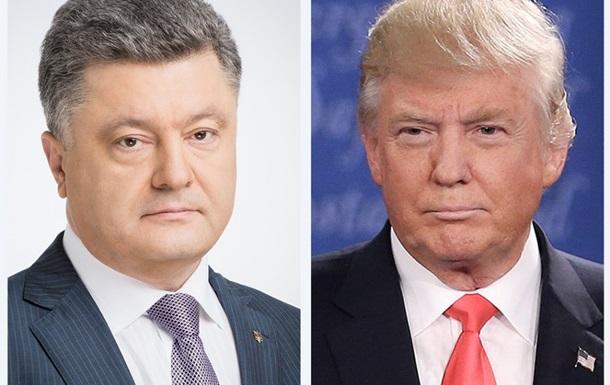 Порошенко и Трамп обсудили ситуацию на Донбассе