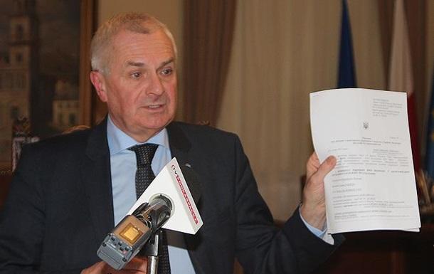 Украина письменно извинилась перед польским мэром