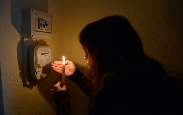 Режим ЧП: отключать свет будут в семи областях