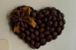 Магнитик «Сердечко» с ароматом кофе