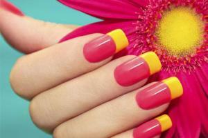 Розовый французский маникюр своими руками