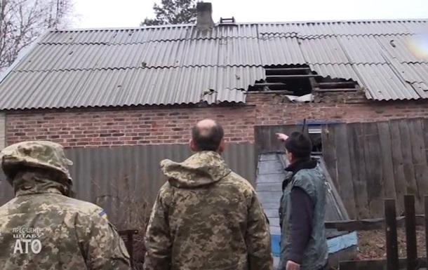 Военные показали обстрелянные дома в Авдеевке