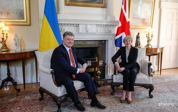 Порошенко встретился с премьером Британии