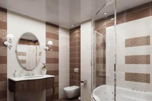 Натяжные потолки для ванной комнаты – преимущества и недостатки