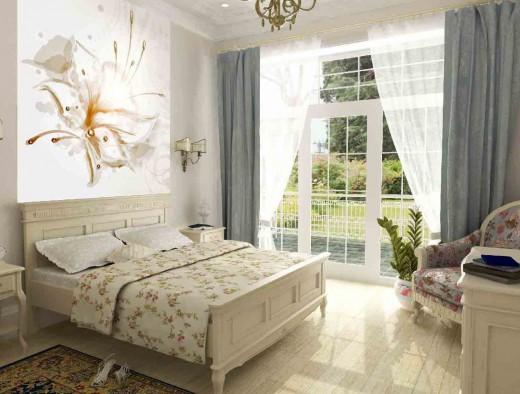 Оригинальный декор спальной комнаты