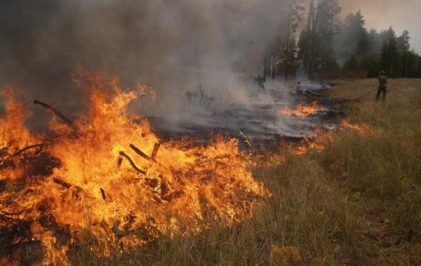 На Днепропетровщине горел полигон