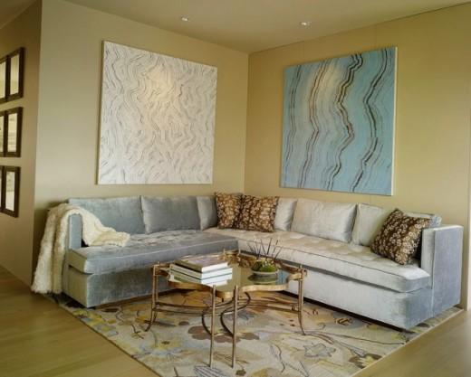 Дизайн гостиной с угловым диваном