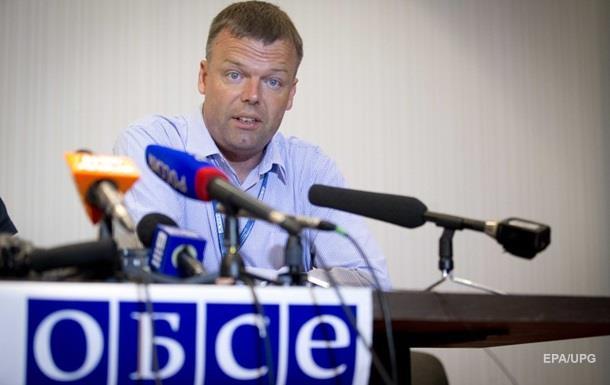 Брифинг ОБСЕ прервали из-за обстрела