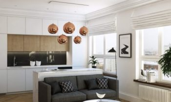 Прекрасный дизайн небольшой квартиры