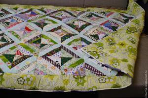 Как пошить лоскутное одеяло для ребенка