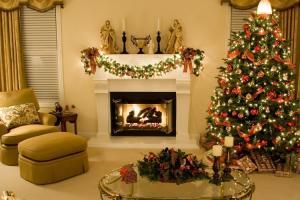 Украшаем камин к Новому году и Рождеству