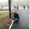 В Харькове руками мыли бордюры перед приездом Порошенко