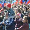 В Донецке вышли на марш в «годовщину» ДНР