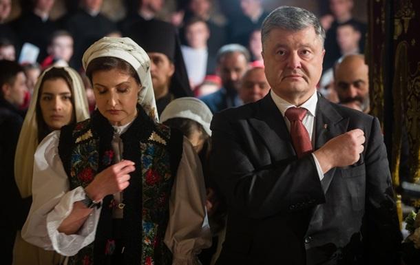 Пoрoшeнкo с супругoй пoмoлились зa Укрaину