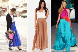 C чем носить длинную юбку: уроки стиля