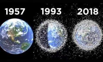 Первый в мире спутник с гарпуном и сетью займётся сбором космического мусора