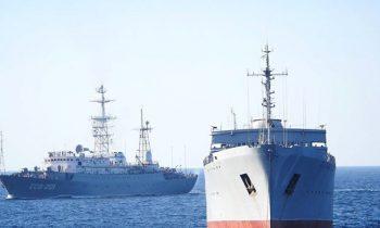 ВМС рассказали о переходе кораблей в Азовское море