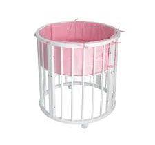 Преимущества круглых и овальный детских кроваток для новорожденных — основные возможности