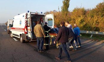 В Черкасской области автобус с детьми попал в ДТП