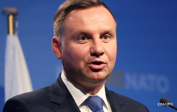 Дуда пригласил Зеленского посетить Польшу