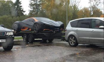 В Латвии заметили украинский суперкар Himera Q