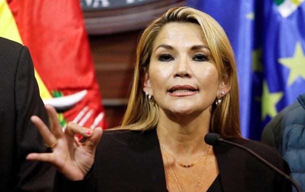 Временным главой Боливии стала сенатор Жанин Аньес