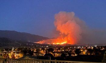 Калифорния в огне: в США возник крупный пожар