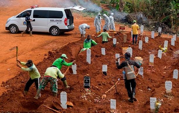 Тех, кто не верет в COVID-19, отправляют копать могилы