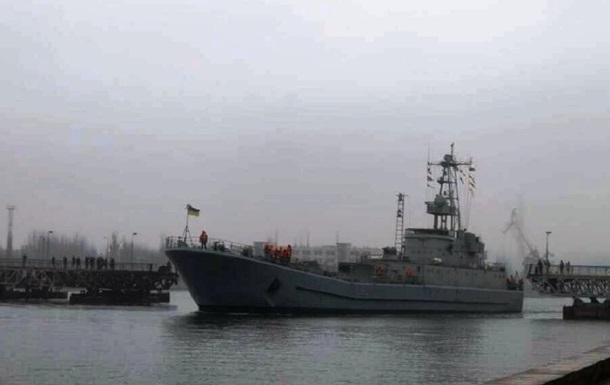 В Николаеве развели мосты для прохода десантного корабля