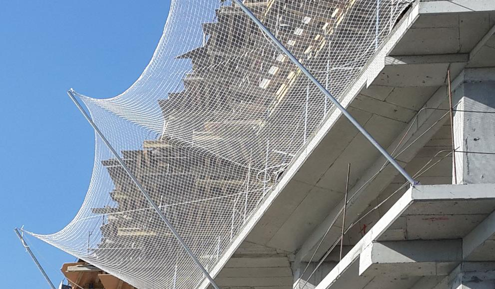 ЗУС – защитно улавливающие сети используются для предотвращения травмирования на строительном объекте