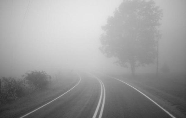 На дорогах в Украине туман и мокрое покрытие