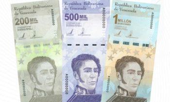 Венесуэла вводит банкноты в 1 млн боливаров