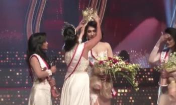 Королева красоты Шри-Ланки лишилась короны прямо на сцене