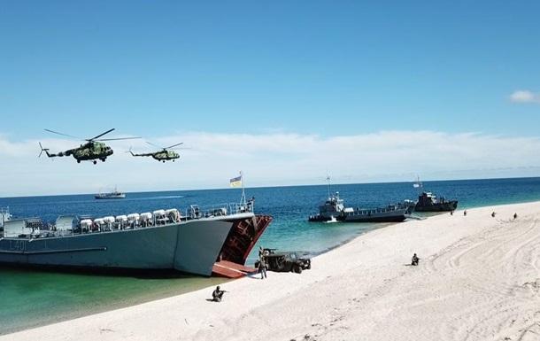 Украинский флот провел учения в Черном море