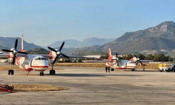 Украинские самолеты сбрасывают воду на очаги лесных пожаров в Турции