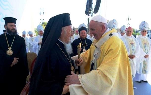 Папа Римский встретился с патриархом Варфоломеем