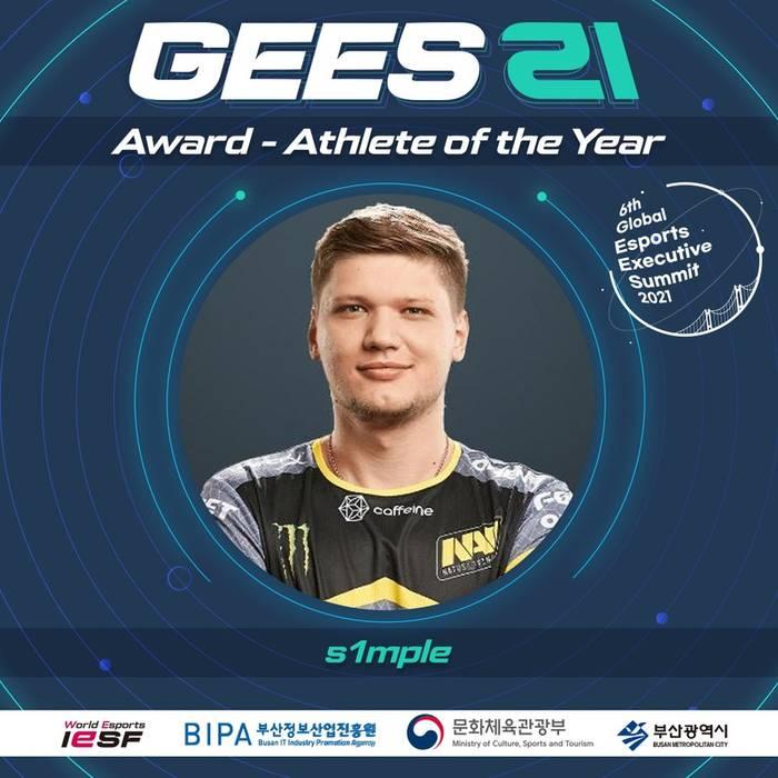 S1mple - лучший игрок года по версии World Esports Awards